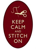 PW2794 - Oval Keep Calm and Stitch On Paperweight