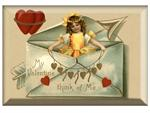 PW2958 - To My Valentine Envelope Antique Postcard Paperweight
