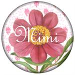 PW347-Pink Peony on Provencial Print  Personalized Paperweight