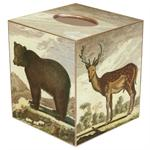 TB1135- Brown Bear & Deer Tissue Box Cover