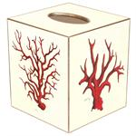 TB1192- Red Coral Tissue Box Cover