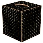 TB1216 - Black & Gold Fleur de Lis Tissue Box Cover