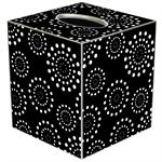TB1231 - Black Fireworks Tissue Box Cover