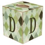 TB1232 Green Argyle Tissue Box Cover