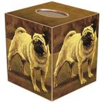 TB125-Fawn Pug Dog Tissue Box Cover