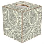 TB1250 - Creme Paisley Tissue Box Cover