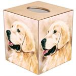 TB130-Golden Retriever Tissue Box Cover