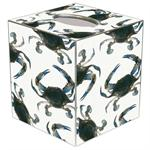 TB1517-Blue Crabs Tissue Box Cover