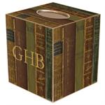 TB1543-Antique Book Spines Tissue Box Cover