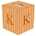 TB1567-Orange Stripe Tissue Box Cover