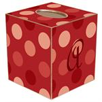 TB1569 - Giant Red Dots Tissue Box Cover