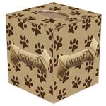 TB1701-Paw Prints Tissue Box Cover
