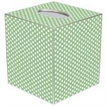 TB1735 - Sage Polka Dot Tissue Box Cover