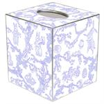 TB1760- Lavender Bunny Toile Tissue Box Cover