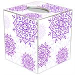 TB1762 - Purple Mehndi Tissue Box Cover