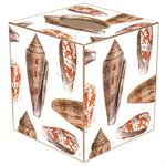 TB1848-Island Shells Tissue Box Cover