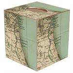 TB1851- Northeast Florida Antique Map Tissue Box Cover