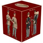 TB1868-Civil War Soldiers on Red Tissue Box Cover