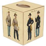TB1869-Civil War Soldiers Tissue Box Cover