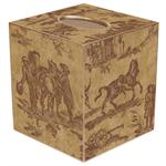 TB225- Brown Horse Toile Tissue Box Cover