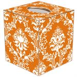 TB2532 - Orange Damask Tissue Box Cover