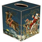 TB2611 - Santa with Reindeer Tissue Box Cover