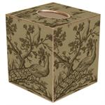 TB343 - Peacock Toile Tissue Box Cover