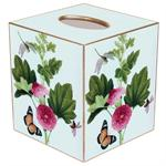 TB344 - Pink Peony & Butterfly Tissue Box Cover