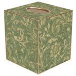 TB362- Sage Damask Tissue Box Cover