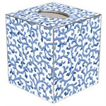 TB37-Blue Waverly Scroll Tissue Box Cover
