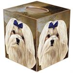 TB379-Maltese Tissue Box Cover