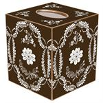 TB467 - Brown Provencial Tissue Box Cover