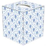 TB468 - Blue Provencial Print Tissue Box Cover