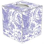 TB459 -Lavender Toile Tissue Box Cover