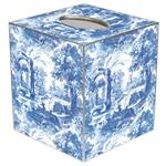 TB470-Blue Italian Toile Tissue Box Cover