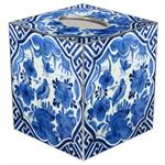 TB501-Blue Delft Bird on Blue & White Tissue Box Cover