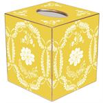 TB552 - Yellow Provencial Tissue Box Cover