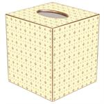 TB650-Creme and Gold Fleur de Lis Tissue Box Cover