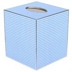 TB662 - Blue Gingham Tissue Box Cover