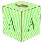 TB894-Green Gingham Tissue Box Cover