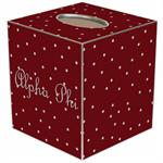 TB966 - Alpha Phi Tissue Box Cover