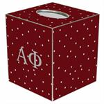 TB967 - Alpha Phi Tissue Box Cover