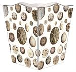 WB1403-Sand Dollars Wastepaper Basket