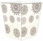 WB1552 - Brown Mehndi Wastepaper Basket