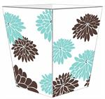 WB1560 - Mod Mum Brown & Blue Wastepaper Basket