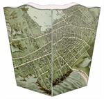 WB1798 - Antique Newport Map Wastepaper Basket