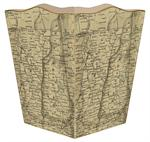 WB1823 - Vermont & New Hampshire Antique Map Wastepaper Basket