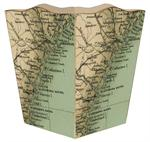 WB1836 - Georgia Coast Antique Map Wastepaper Basket