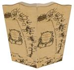WB2463 - Caribbean Map Wastepaper Basket