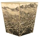 WB2596 - Santa Fe Antique Map Wastepaper Basket